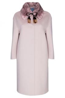 Пальто из шерсти и ангоры Prada