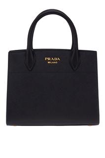 Кожаная сумка Bibliotheque Prada