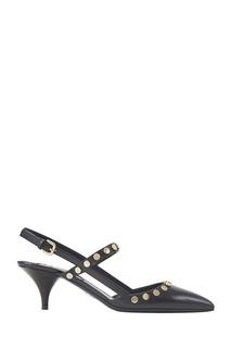 Кожаные туфли с заклепками Prada
