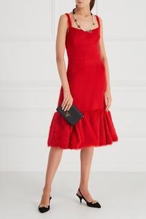 Платье из альпаки и шелка Prada