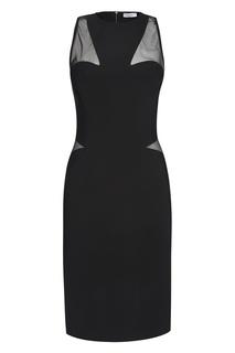 Платье с прозрачной отделкой Mugler