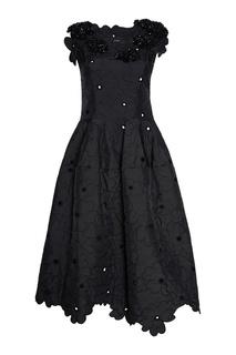 Платье с вышивкой кристаллами Simone Rocha