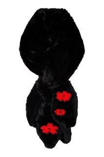 Меховой шарф с вышивкой Simone Rocha