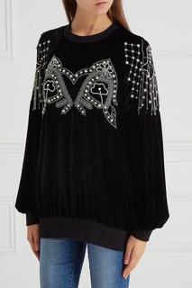 Бархатная блузка с вышивкой Wandering