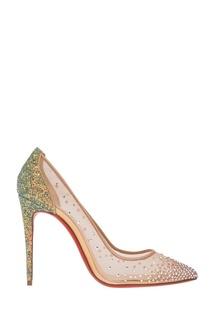 Туфли с кристаллами Follies Strass 100 Christian Louboutin