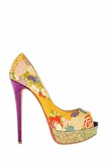 Жаккардовые туфли Lady Peep 150 Christian Louboutin