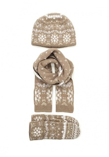 Комплект шапка, шарф и варежки Ferz