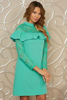 Свободное платье с кружевом и оборкой Vittoria Vicci