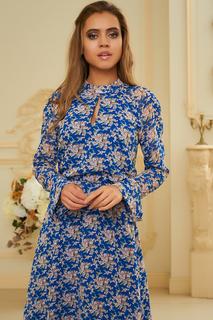 Платье с цветочным принтом и длинным рукавом Vittoria Vicci