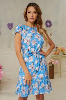 Платье с цветочным принтом и оборкой по низу Vittoria Vicci