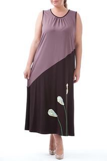 Трапециевидное платье с декором Leshar