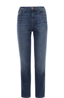 Укороченные джинсы прямого кроя с завышенной талией J Brand
