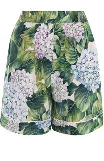 Шелковые шорты с цветочным принтом Dolce & Gabbana