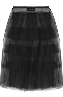 Многоярусная пышная юбка-миди Simone Rocha