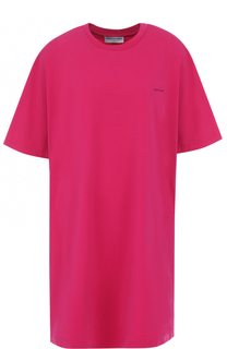 Удлиненная хлопковая футболка свободного кроя Balenciaga