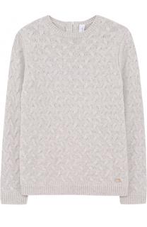 Кашемировый пуловер фактурной вязки Tartine Et Chocolat