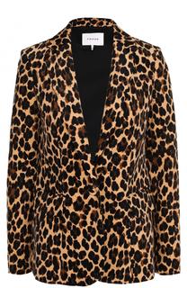 Приталенный пиджак с леопардовым принтом Frame Denim