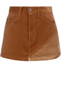 Вельветовая мини-юбка с карманами Marc Jacobs