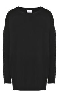 Пуловер свободного кроя из смеси шерсти и кашемира Allude