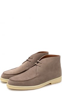 Замшевые ботинки на шнуровке Loro Piana