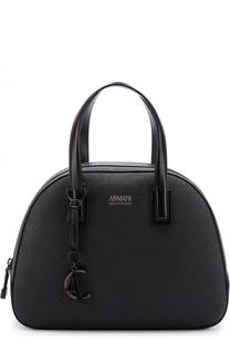 Кожаная сумка с логотипом бренда Armani Collezioni