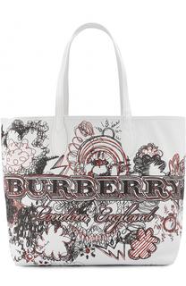 Сумка-шоппер с принтом Burberry