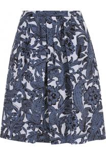 Шелковая мини-юбка с цветочным принтом Burberry