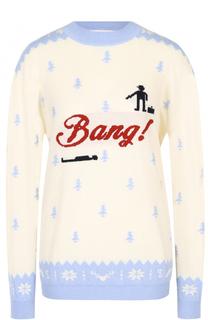 Пуловер из смеси шерсти и кашемира с принтом Tak.Ori