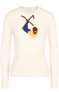 Приталенный пуловер из смеси шерсти и кашемира Tak.Ori