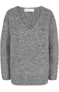 Пуловер из смеси шерсти и шелка с V-образным вырезом Iro