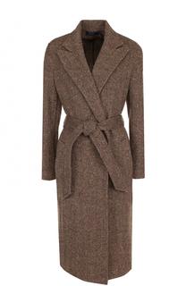 Шерстяное пальто с карманами и поясом Polo Ralph Lauren