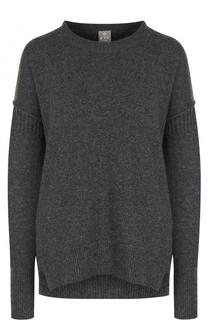 Кашемировый пуловер свободного кроя с круглым вырезом FTC