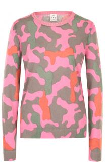 Пуловер прямого кроя с принтом FTC