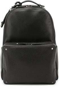 Кожаный рюкзак Rockstud с внешним карманом на молнии Valentino
