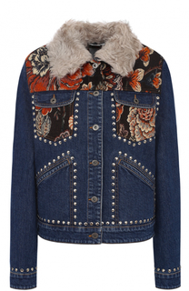 Джинсовая куртка прямого кроя с декоративной отделкой Stella McCartney