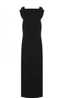 Шерстяное платье-макси без рукавов Yohji Yamamoto
