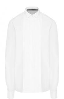 Хлопковая блуза прямого кроя с планкой Haider Ackermann