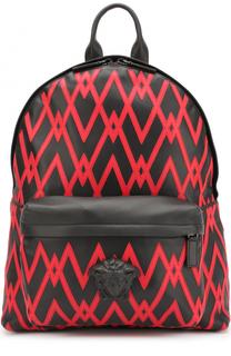Кожаный рюкзак с контрастной отделкой Versace