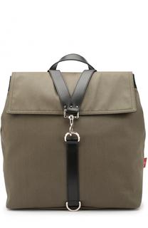 Текстильный рюкзак с клапаном и кожаной отделкой Valentino