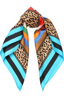 Шелковый платок с принтом Diane Von Furstenberg