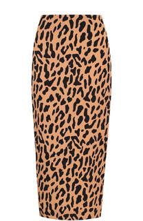 Юбка-карандаш с леопардовым принтом Diane Von Furstenberg