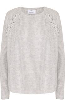 Пуловер из смеси шерсти и кашемира со шнуровкой Allude