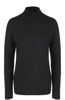 Однотонный шерстяной свитер с высоким воротником Allude