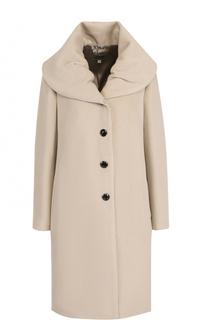 Однотонное пальто из смеси шерсти и кашемира Armani Collezioni