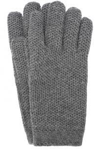 Кашемировые перчатки фактурной вязки Loro Piana