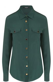 Шелковая приталенная блуза Balmain
