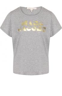 Хлопковая футболка прямого кроя с круглым вырезом Marc Jacobs