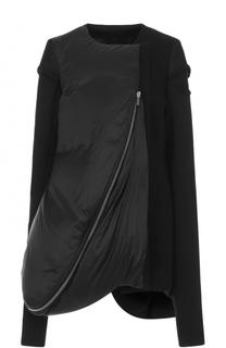 Укороченное пальто свободного кроя на молнии Rick Owens