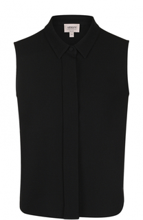 Однотонная шерстяная блуза без рукавов Armani Collezioni