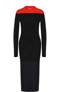 Приталенное платье-миди с длинным рукавом Diane Von Furstenberg